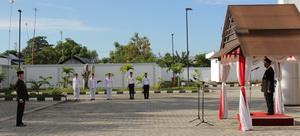 Upacara Peringatan HUT Ke-68 Proklamasi Kemerdekaan Republik Indonesia di BPK RI Perwakilan Provinsi Sulawesi Tengah