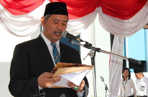 Pembacaan Pidato Ketua BPK RI oleh Inspektur Upacara